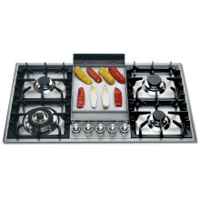 "Stainless Steel with Stainless Steel Trim 36"" - Built -in Gas Cooktop"