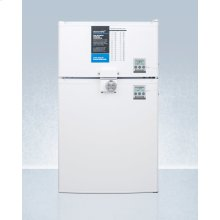 ADA Height Two-door Cycle Defrost Refrigerator-freezer With Combination Lock and Nist Calibrated Thermometers