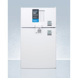 SummitADA Height Two-door Cycle Defrost Refrigerator-freezer With Combination Lock and Nist Calibrated Thermometers