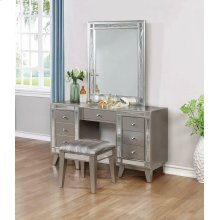 Elegant Vanity Table, Mirror and Stool