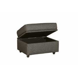 Storage Ottoman - Charcoal Tweed Finish