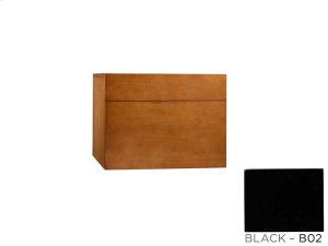"""Rebecca 18"""" Wall Mount Drawer Bridge with Wood Front in Black Product Image"""