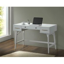 Transitional White Writing Desk