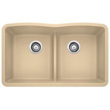 Blanco Diamond Equal Double Bowl With Low-divide - Biscotti