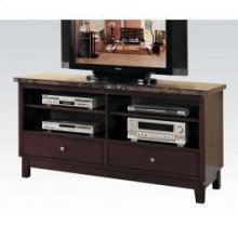 TV Console W/black Marble Top
