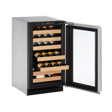 """2000 Series 18"""" Wine Captain® Model With Stainless Frame Finish and Field Reversible Door Swing (115 Volts / 60 Hz)"""