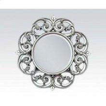 "Silver Accent Mirror, 30""d"