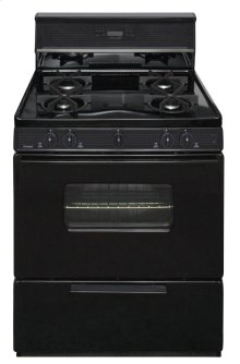 30 in. Freestanding Sealed Burner Spark Ignition Gas Range in Black