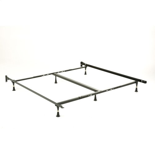 Engineered Adjustable 656 Bed Frame with Fixed Headboard Brackets and (6) Glide Legs, Twin XL / King