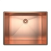 Stainless Copper ROHL Single Bowl Stainless Steel Kitchen Sink