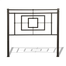 Sheridan Metal Headboard with Squared Tubing and Geometric Design, Blackened Bronze Finish, Queen