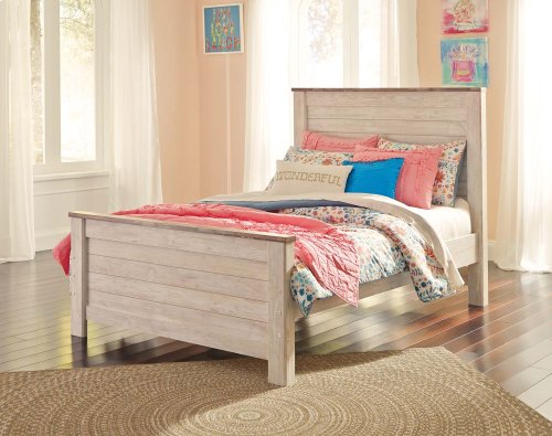 Willowton - White Wash 3 Piece Bed Set (Full)
