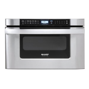 Sharp24 in. 1.2 cu. ft. 950W Sharp Easy Open Stainless Steel Microwave Drawer Oven