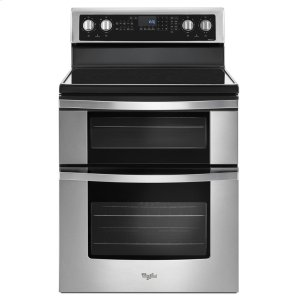 6.7 Cu. Ft. Electric Double Oven Range with True Convection - STAINLESS STEEL