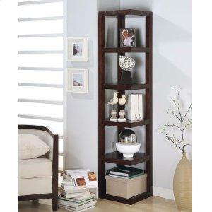 CoasterTransitional Cappuccino Bookcase