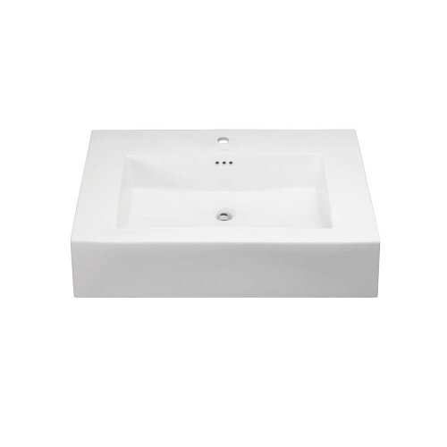 """Prominent™ 24"""" Ceramic Sinktop with Single Faucet Hole in White"""