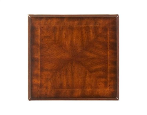 Crafted from selected hardwood solids and choice cherry veneers. Table tops feature a four-way book matched cherry veneer with a maple inlay and a cross grain cherry veneer border.