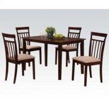 Espresso 5pc Pk Dining Set