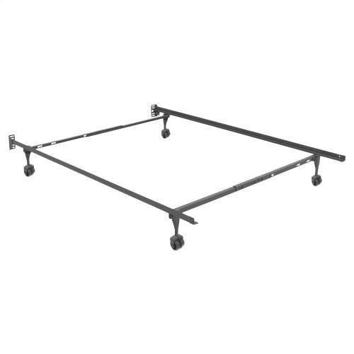 Sentry Adjustable Bed Frame 7960R with Headboard Brackets and (4) 2-Inch Rug Roller Legs, Twin - Queen
