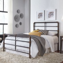 Everett Complete Metal Bed, Queen