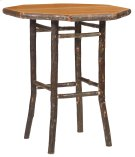 "Hickory Pub Table - 32"" Round - Traditional Hickory with Standard Finish Product Image"