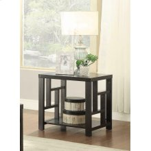 Transitional Cappuccino End Table