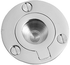 "Satin Nickel Flush ring, 2"" diameter"