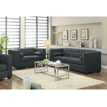Cairns Transitional Charcoal Two-piece Living Room Set