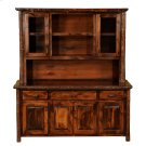 "Hickory 75"" Buffet & Hutch - with Shelving on Top Portion - Espresso Product Image"