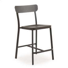 0244 Stackable Counter Stool (Charcoal)