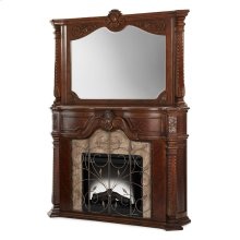 Fireplace With Mirror & Electric Insert 3pc