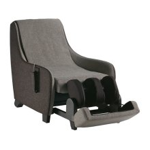 Sofa Massage Chair with foot and calf massage in a hide-away ottoman.