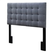 Mila Pewter Gray Fabric Tufted Upholstered Full/Queen Headboard
