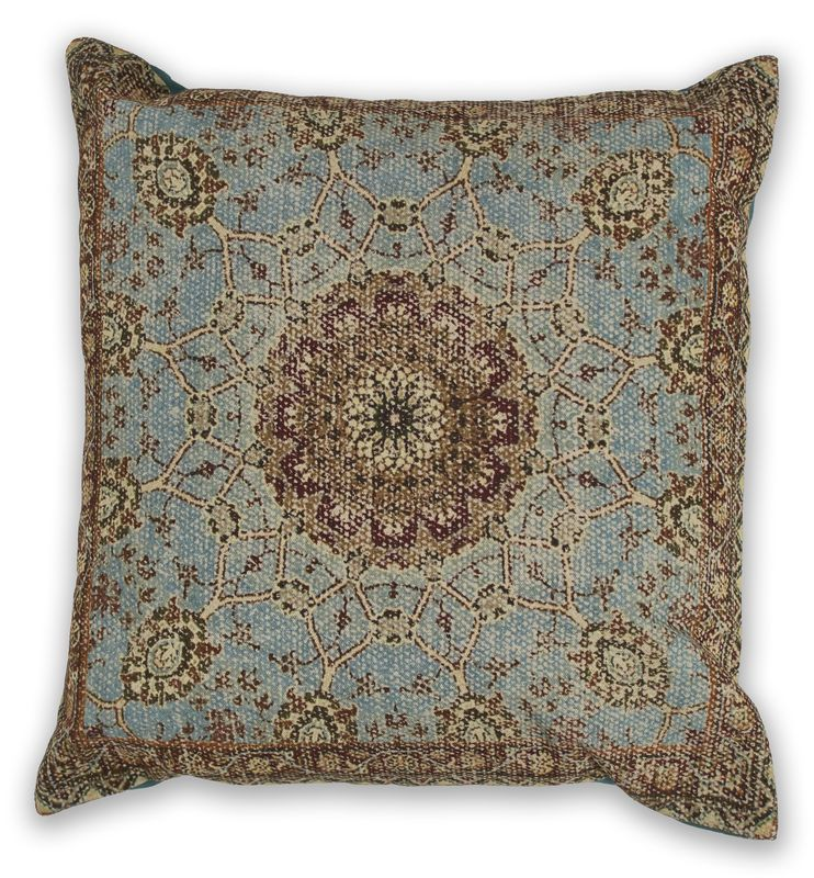 "Pillow L321 Blue Morocco 18"" X 18"""