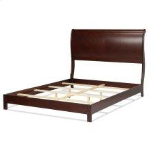 Bridgeport Platform Complete Bed with Curved Sleigh Headboard, Espresso Finish, King
