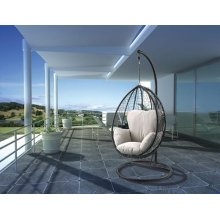 SIMONA BLACK HANGING CHAIR