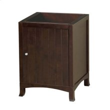 "Hampton 24"" Bathroom Vanity Cabinet Base in Vintage Walnut"