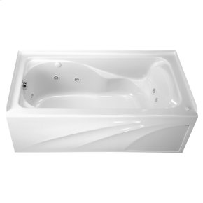 Cadet 60x32 Inch Whirlpool with Apron  Left Drain  American Standard - White
