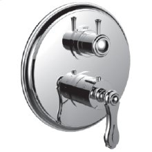 "7098br-tm - 1/2"" Thermostatic Trim With 3-way Diverter Trim (shared Function) in Bright Victorian Copper"
