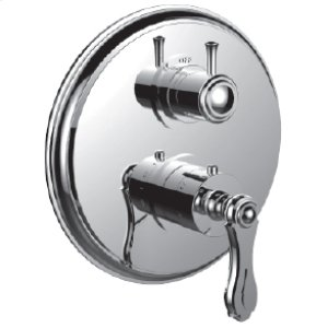 """7098br-tm - 1/2"""" Thermostatic Trim With 3-way Diverter Trim (shared Function) in Satin Chrome"""