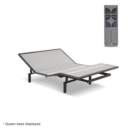 Sunrise 2 Slim-Profile Adjustable Bed Base for Platform Beds with Adjustable Legs, Charcoal Gray, Twin XL