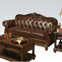 TOP+SPLIT LEATHER OTTOMAN