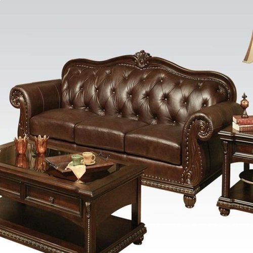 TOP+SPLIT LEATHER SOFA