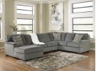 LAF Chaise 3 piece sectional -Loric- Smoke collection Product Image