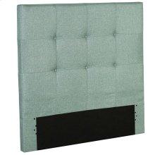 Henley Fashion Kids Button-Tuft Upholstered Headboard, Celery Green Finish, Full