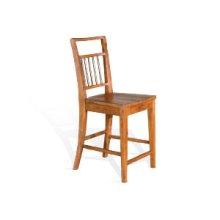 "Mossy Oak 24""H Barstool, Wood Seat"