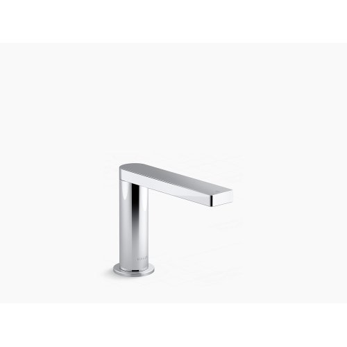 Polished Chrome Touchless Bathroom Sink Faucet With Kinesis Sensor Technology and Mixer, Ac-powered