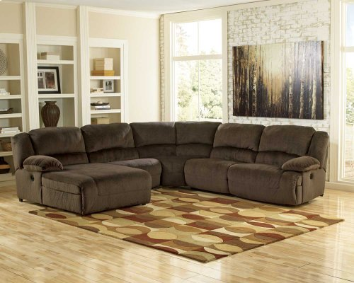 5-Piece Power Reclining Sectional with RAF Recliner