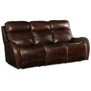 Living Room Chambers Power Recliner Sofa w/ Power Headrest Product Image