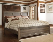 Juararo - Dark Brown 3 Piece Bed Set (King)